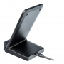 Fast Wireless Charger Qi 10W with clock black